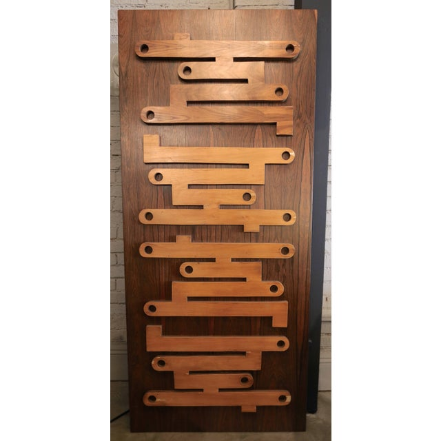 Mid-Century Modern 1960s Brazilian Jacaranda Decorative Panel or Door For Sale - Image 3 of 8
