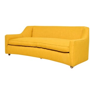 1960s Vintage Mustard Sofa For Sale