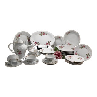 Wawel Fine China Set, Serveware, Dinnerware, Made in Poland 32 Piece For Sale