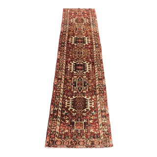 "Vintage Persian Karajeh Runner Rug - 3'2""x12'4"" For Sale"
