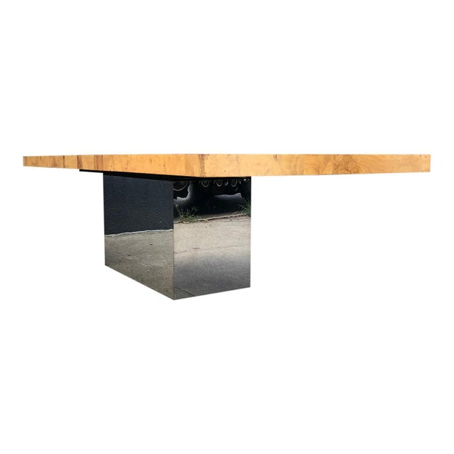 Chrome 1970s Mid-Century Modern Milo Baughman for Thayer Coggin Dining Table For Sale - Image 7 of 10