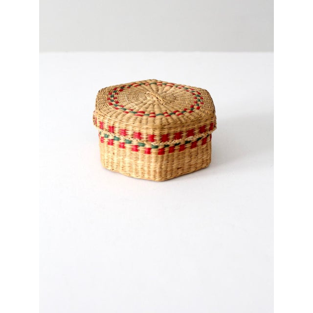 Mid 20th Century Vintage Sweetgrass Basket For Sale - Image 5 of 10