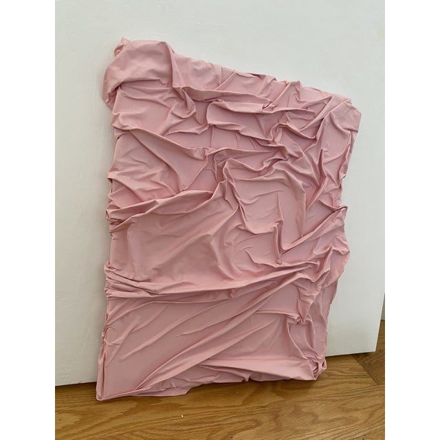 Contemporary Minimalist Light Pink Abstract Textural Painting by Jordan Samuels For Sale In Chicago - Image 6 of 11