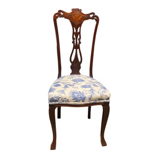 Early 1900's Mahogany Side Chair For Sale