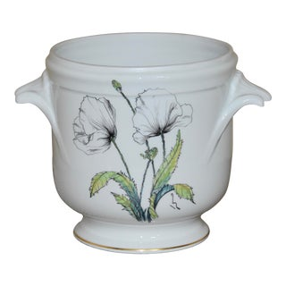 1900s French Limoges Hand Painted Cachepot For Sale