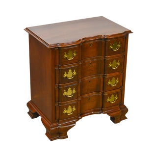 Councill Craftsmen Solid Mahogany Chippendale Style Small Block Front Accent Chest For Sale