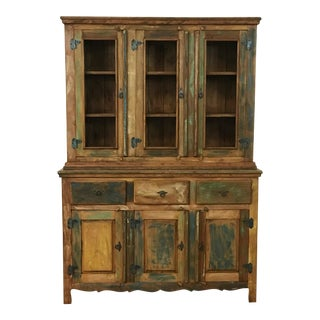 Reclaimed Solid Wood Buffet With Hutch
