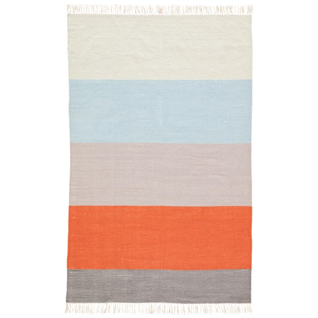 Jaipur Living Swane Indoor/ Outdoor Striped Area Rug - 5′ × 8′ For Sale