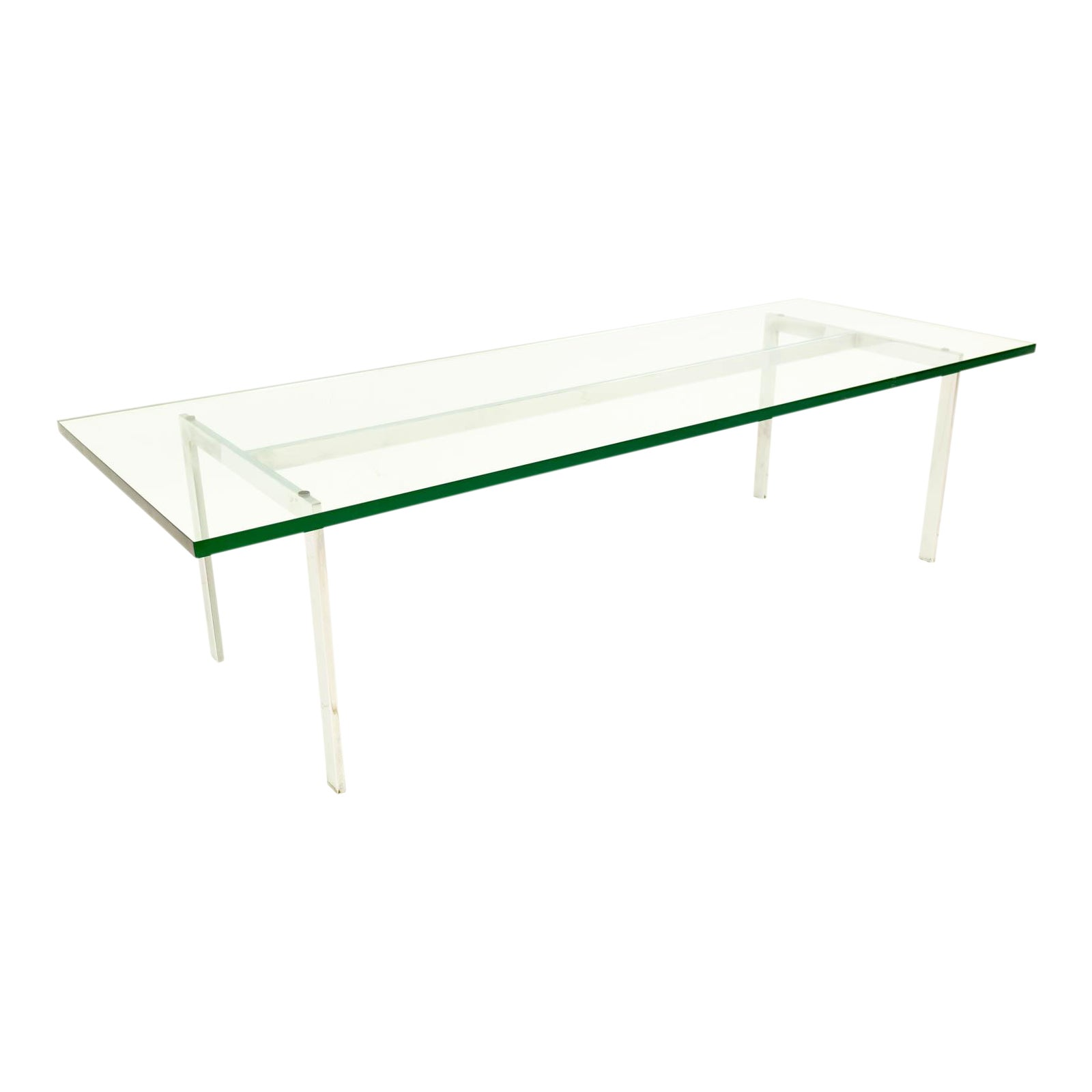 da01be329283b Mid-Century Modern Chrome   Glass Coffee Table
