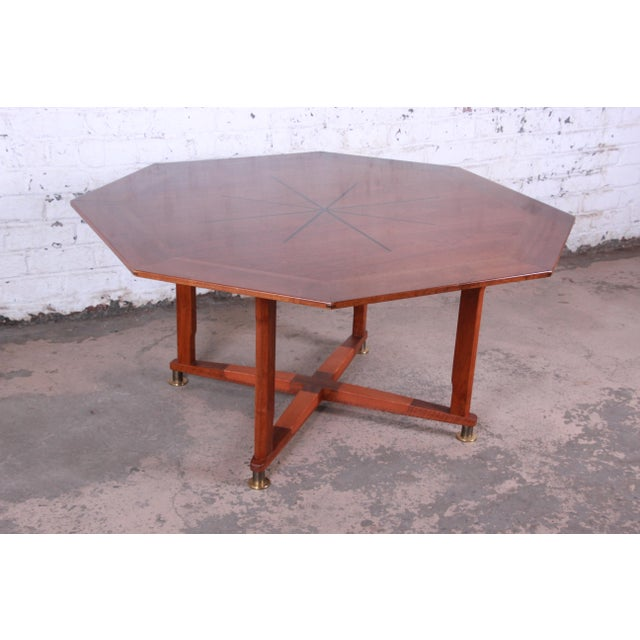 Edward Wormley for Dunbar Janus Collection Game Table For Sale - Image 12 of 12
