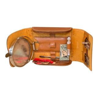 Vintage Gillette Cow Hide Leather Shaving Kit