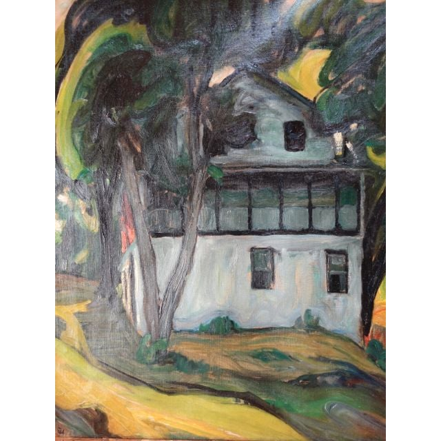 """Santa Barbara Adobe"" Painting by Ejnar Hansen For Sale In Los Angeles - Image 6 of 7"