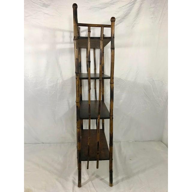 19th Century Bamboo Bookshelf For Sale - Image 4 of 7