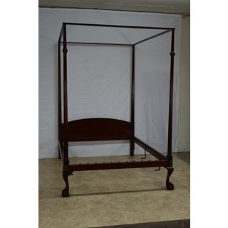 20th Century British Colonial Kittinger Full/Double Size Solid Mahogany Canopy Bedframe Preview