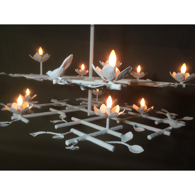 White 2 Layer Garden Chandelier For Sale - Image 8 of 13