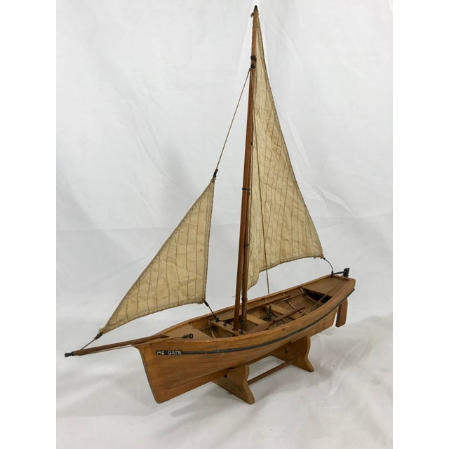 Wood Spanish Fishing Barque Model For Sale - Image 7 of 7