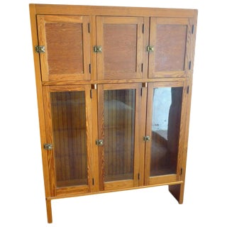 Cabinet for Kitchen Dining Room Storage From Historic Chicago Pullman Home 1920s For Sale