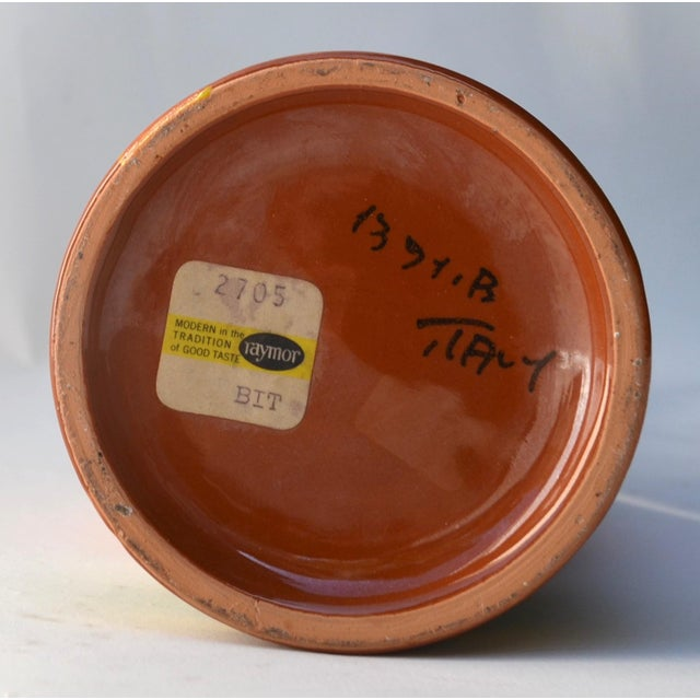 1950s Mid Century Aldo Londi Stripe Vase For Sale - Image 5 of 6