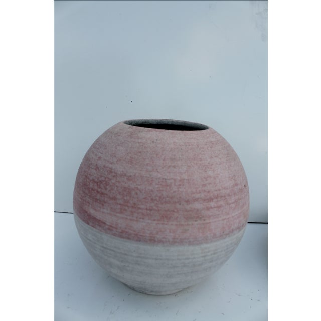 Pink Glazed Studio Pottery Vases - A Pair - Image 7 of 7