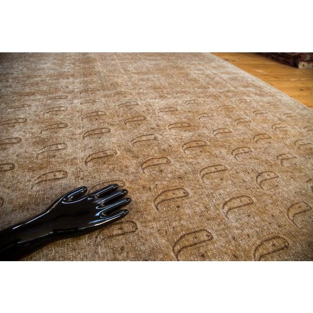 """Distressed Vintage Khorassan Carpet - 7'10"""" x 11'3"""" - Image 2 of 7"""