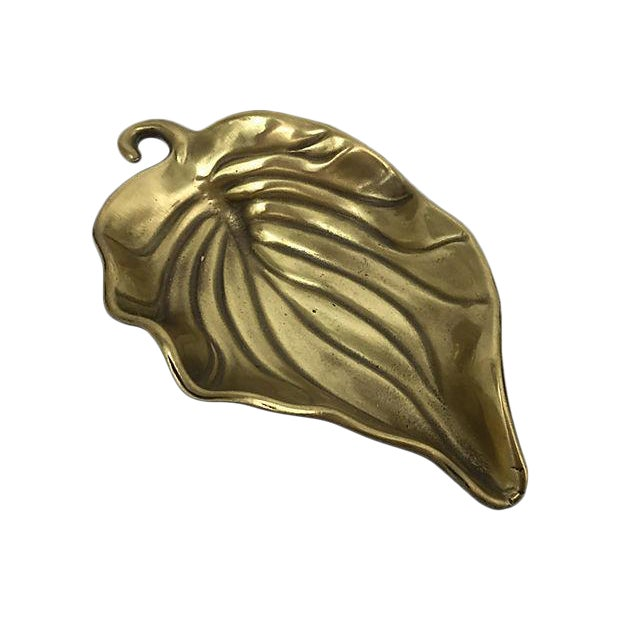 Footed Brass Coin Dish - Image 1 of 6