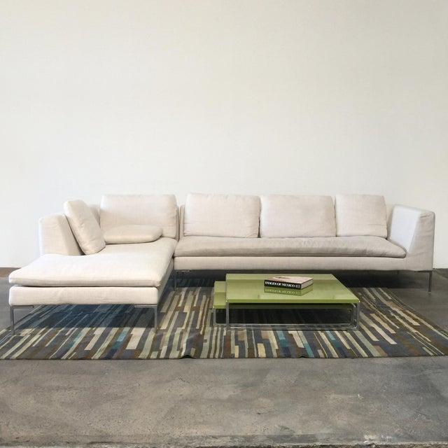 Antonio Citterio B&B Italia 'Charles' Sofa For Sale - Image 7 of 9