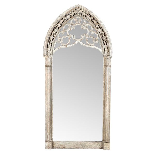 Vintage Arched Window Mirror For Sale