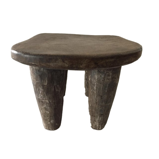 """African Senufo Wood Kids Milk Stool I . Coast 12.25"""" W by 8.5"""" H For Sale - Image 4 of 9"""