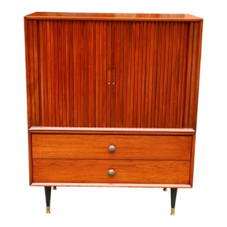 1970's Mid Century Curated Danish Teak Highboy For Sale