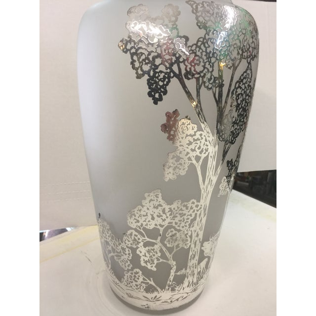 Large Antique Silver Overlay Scenic Vase For Sale - Image 4 of 10