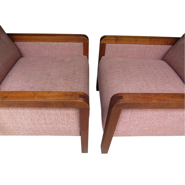 1970s Vintage 1970s W. H. Gunlocke Chair Co. Lounge Armchairs - a Pair For Sale - Image 5 of 13