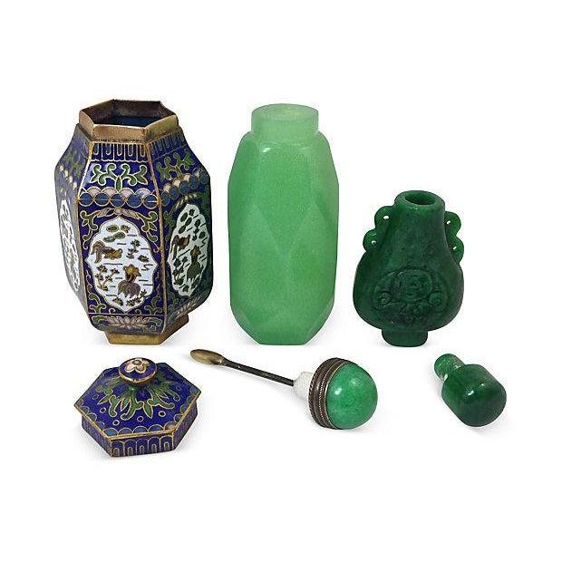 Jade & Jadeite Snuff Bottles & Jar - Set of 4 - Image 4 of 6