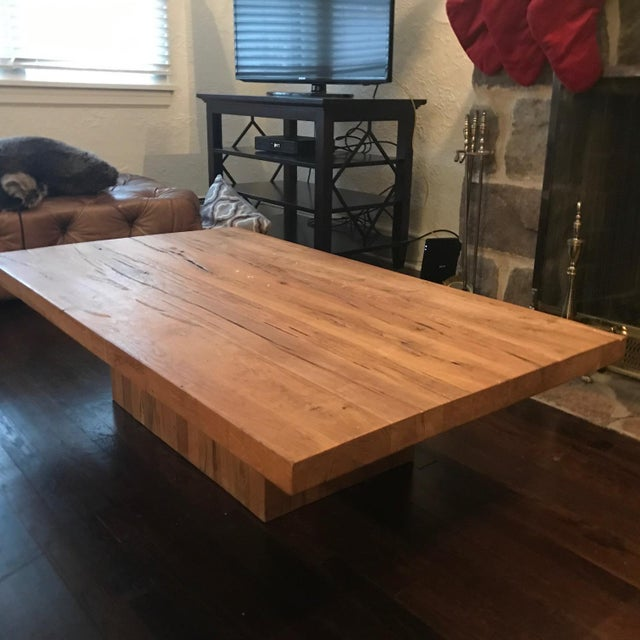 Restoration Hardware Coffee Table.Restoration Hardware Reclaimed Russian Oak Plinth Coffee Table