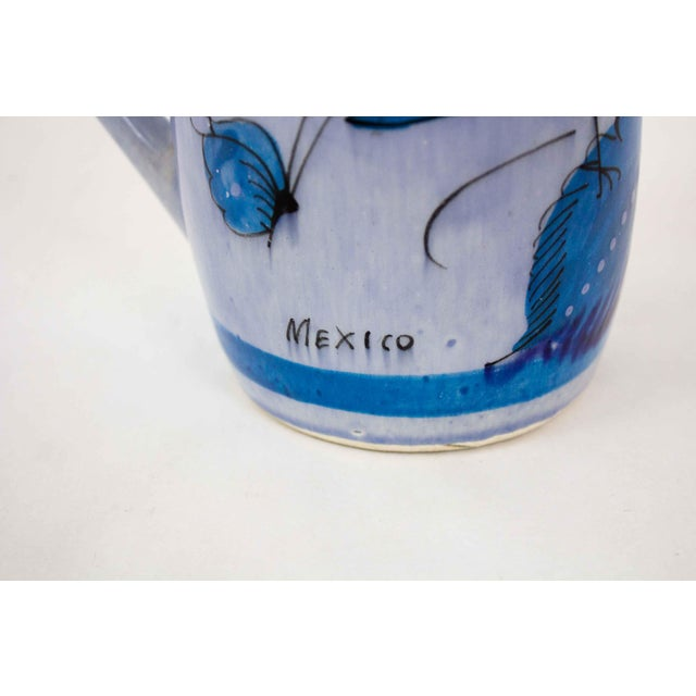 Vintage Mid-Century Mexican Ceramic Pitcher For Sale - Image 4 of 7