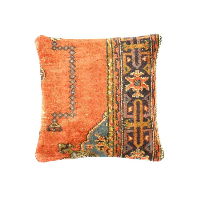 Islamic Vintage Turkish Pasargad Hand Knotted Rug Pillow For Sale - Image 3 of 3