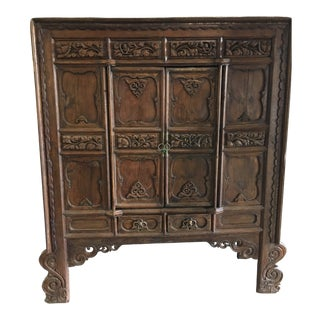 19th Century Chinese Elmwood Cabinet For Sale