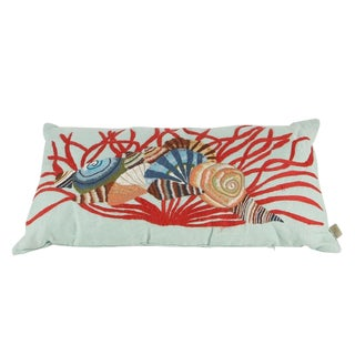 """Nautical """"Kuk-May"""" Embroidered Decorative Pillow For Sale"""
