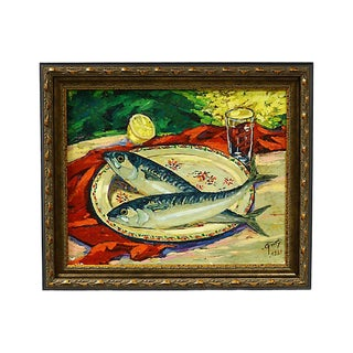 1960 French Still Life Oil Painting For Sale