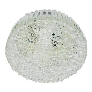1960s Mid-Century Modern Bubble Glass Flush Mount by Glashütte Limburg, Germany For Sale