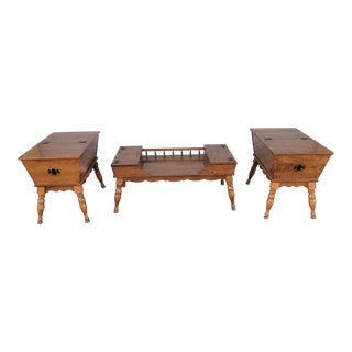 Ethan Allen Maple Birch Doughbox Tables - Set of 3 For Sale