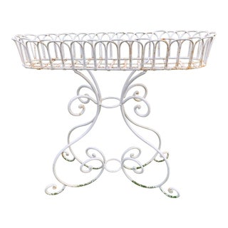Vintage French Wrought Iron Planter For Sale