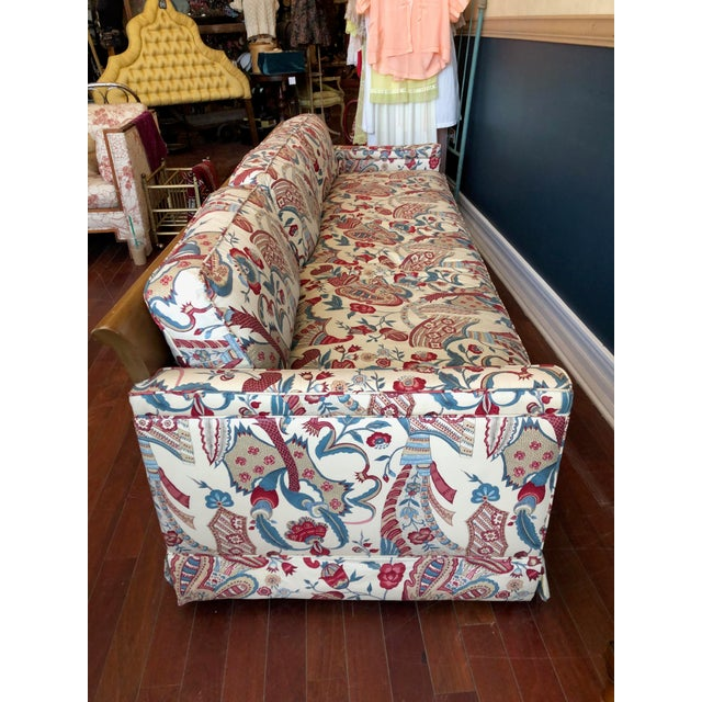 Vintage 1970s Down Sofa in Fabulous Print Upholstery For Sale - Image 9 of 13