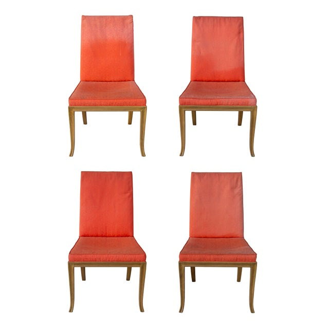 Baker Furniture Company Dining Chairs by t.h. Robsjohn-Gibbings for Baker - Set of 4 For Sale - Image 4 of 11