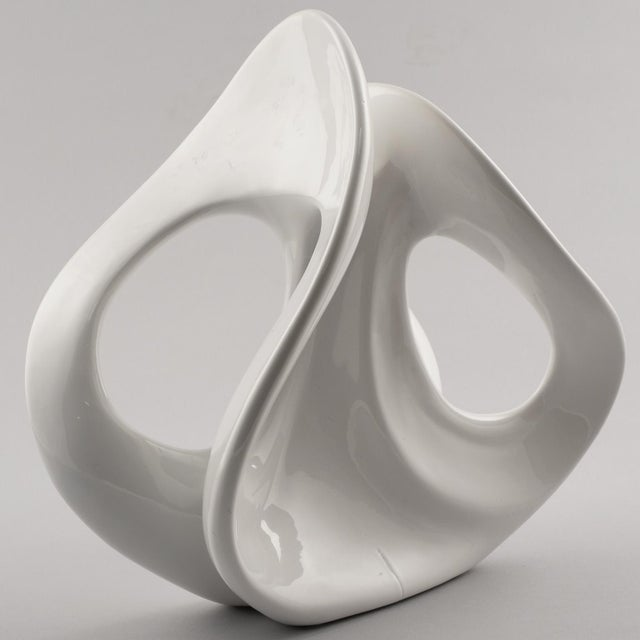 Italian White Ceramic Op Art Sculpture For Sale In Detroit - Image 6 of 9