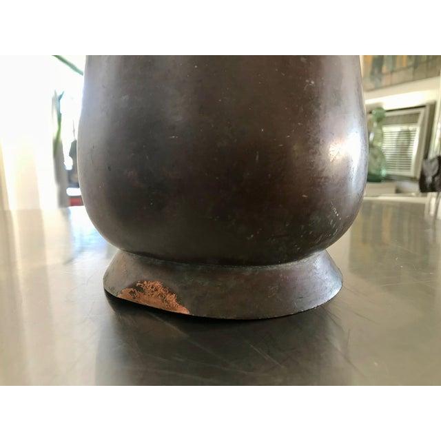 Vintage Bel Geddes Era Art Deco Copper Metal Water Pitcher - Image 7 of 10