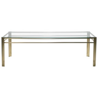 Midcentury Bronze Coffee Table by Jacques Quinet for Broncz, 1960s For Sale