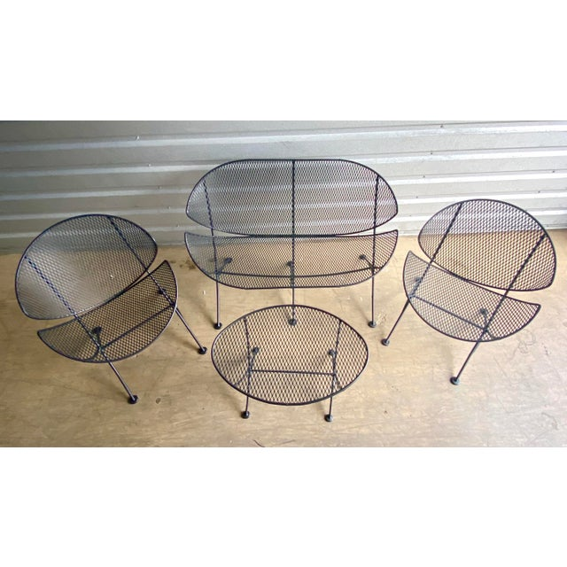 Midcentury Salterini Clamshell Patio Set For Sale - Image 12 of 12