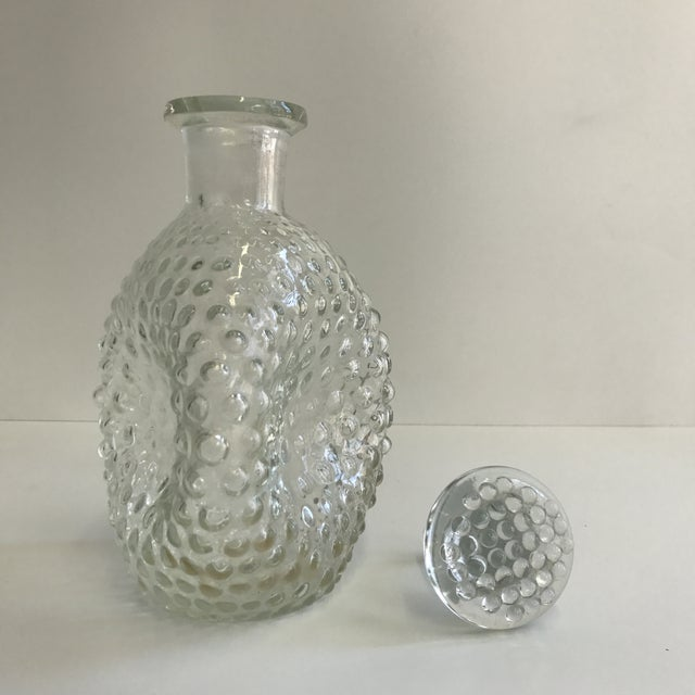Hand Blown Hobnail Glass Decanter - Image 5 of 6