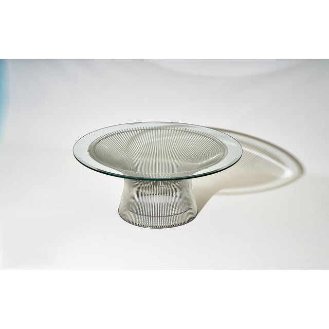 Metal Warren Platner Coffee Table Manufactured by Knoll For Sale - Image 7 of 8