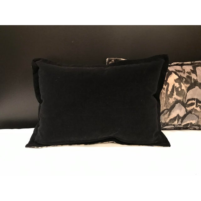 2010s Contemporary Scalamandre Velvet Feather Amimal Print Pillows - a Pair For Sale - Image 5 of 7